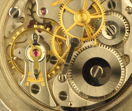 Photo for Close up of a fine swiss precision clockwork - Royalty Free Image
