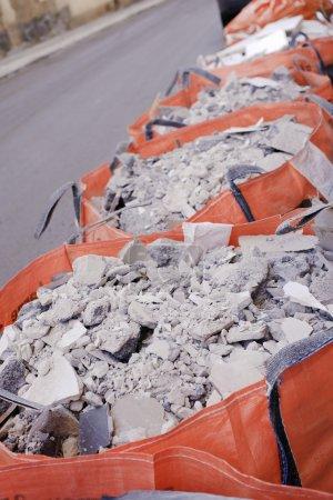 Construction waste bags