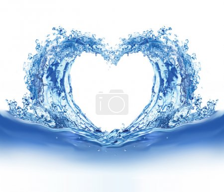 Blue water heart