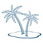 Постер, плакат: Silhouette Palm trees