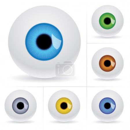 Illustration pour Boules d'oeil. Illustration vectorielle sur fond blanc - image libre de droit