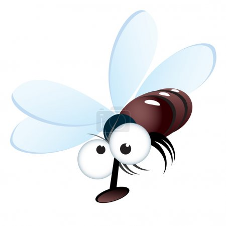 Cartoon style illustration of a fly