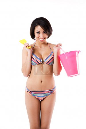 Sexy bikini black woman
