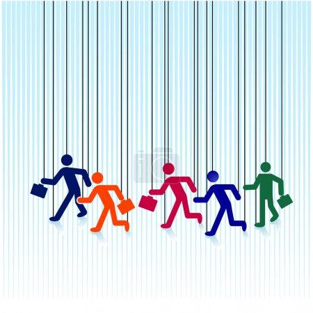 Illustration pour Marionnettes à cordes - image libre de droit
