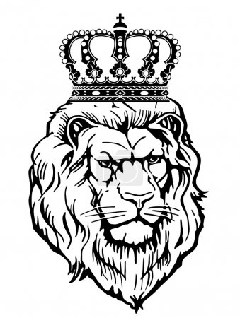 Illustration for Heraldic animal with crown - Royalty Free Image