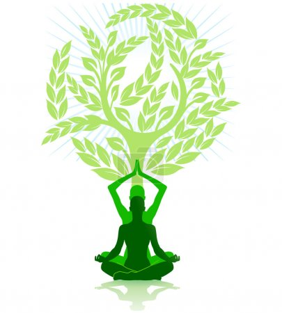 Illustration for Meditation exercise - Royalty Free Image