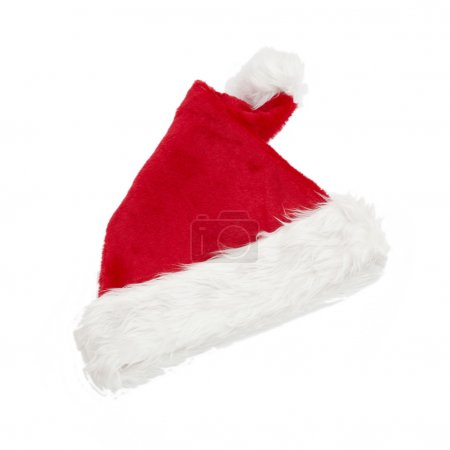 Photo for Santa claus hat isolated on white background - Royalty Free Image