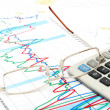 Photo financial report and statistic chart busines...