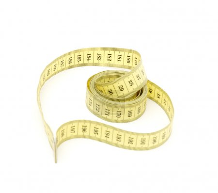 Measuring tape looking as heart