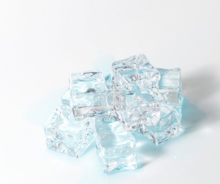Stack of blue Ice cubes