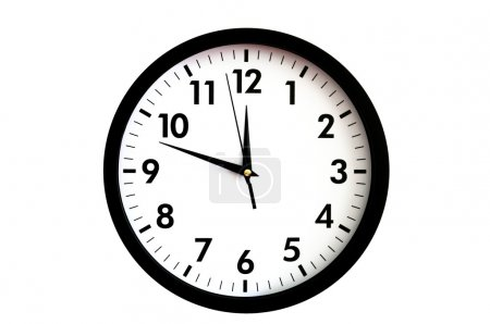 Photo for Clock face isolated on white background - time concept - Royalty Free Image