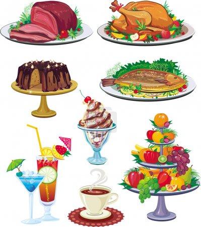 Illustration pour Ensemble de vaisselle - image libre de droit