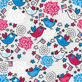 Seamless pattern of Independence Day