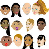 Faces 4 Vector Illustration set of 12 peoples on a diverse set of cultures Also available in other sets