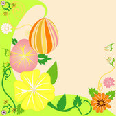 Vector Illustration of Easter Egg Floral Background 2