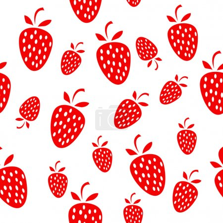 Simple seamless strawberry background