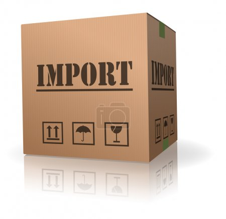 Photo for Import shipping international trade package shipment - Royalty Free Image