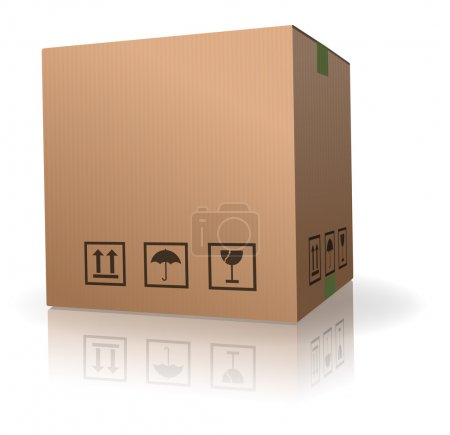 Cardboard box for storage delivery shipment or moving