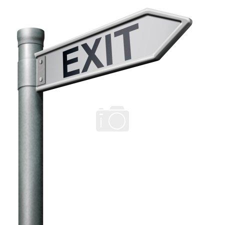 Photo pour Sortie de flèche de signe de route le chemin vers la finale - image libre de droit