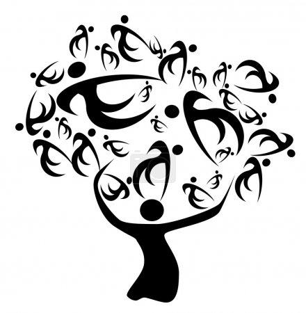 Photo pour Ancêtres de l'arbre généalogique et histoire décevante de parents - image libre de droit