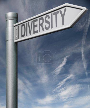 Señal de ruta de diversidad con camino de recorte