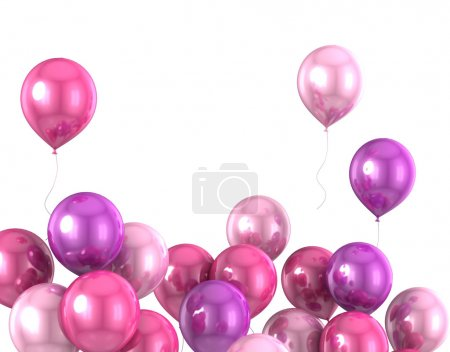 3d color helium balloon on white backrounde...