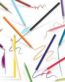 Drawing color pencils vector illustratrion