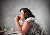 """Постер, картина, фотообои """"нездоровая пища на ужин"""""""