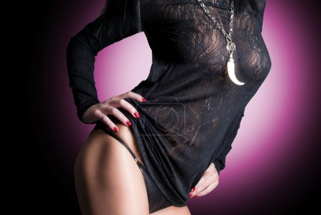 Photo pour Superbe belle dame sexy - image libre de droit