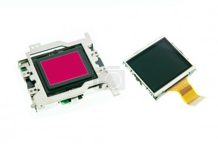 CMOS sensor and LCD screen of digital camera
