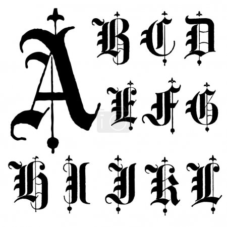 Vector Letters A-L