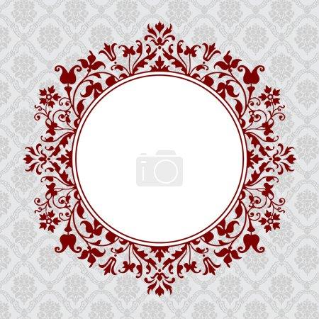 Vector Ornate Round Floral Frame