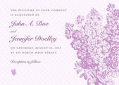 Vector lilac frame and background Easy to edit Perfect for invitations or announcements
