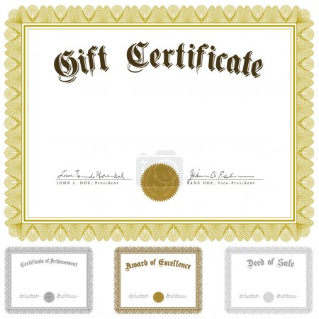 Vector Certificate and Awards Frame Set