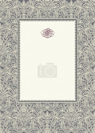 Vector Damask Background and Frame