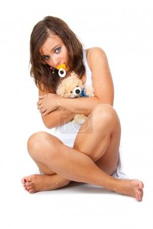 Girl with soother