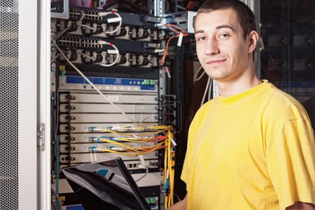 The engineer in datacenter