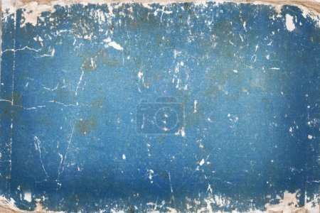 Blue cardboard with age marks