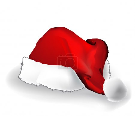 Christmas cap isolated over white background