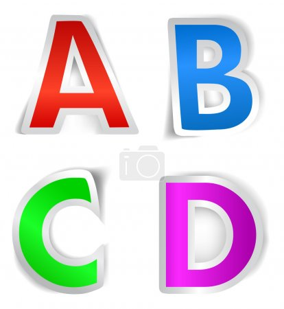 Vector alphabet letter design series A to D