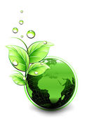 Planet Ecology green design Vector