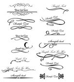Set ornate design elements for you text. Vector