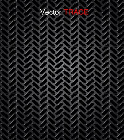 Seamless trace of the tyre. Vector background