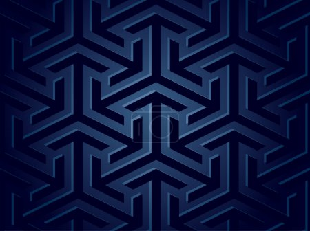 Illustration for Seamless blue background of geometric shapes. Vector illustration - Royalty Free Image