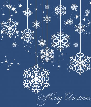 New Year blue decoration. Vector illustration
