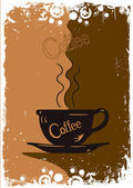 Grungy coffee background Vector