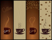 Set of coffee banners. Vector