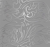 Wallpaper silver floral Background. Vector