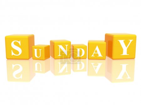 Sunday in 3d cubes