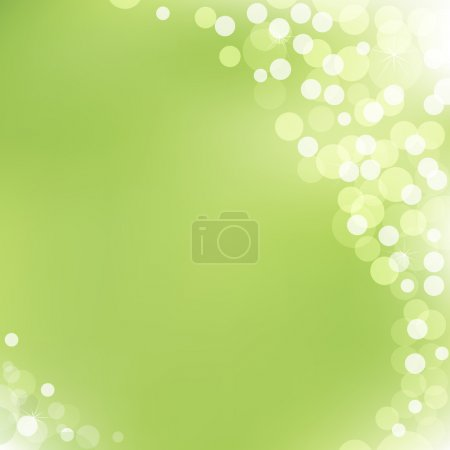 Illustration for Abstract Green Vector Background With Bokeh - Royalty Free Image